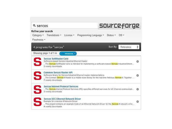Search for Sercos III SoftMaster Driver Software Online